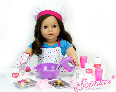"""Doll Clothes 18/"""" Baking Set 26-Piece Set Sized For American Girl Dolls"""