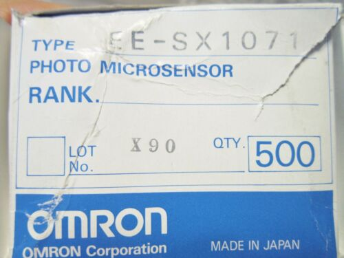 EE-SX1071 OMRON PHOTOMICROSENS TRANSISTOR OPTICAL SWITCHES 5-PC LOT