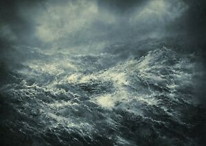 Awesome-Stormy-Seas-Poster-Print-Size-A4-A3-Ocean-Weather-Poster-Gift-8388