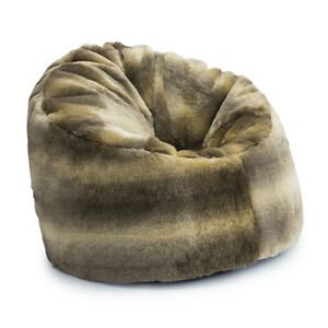 Astonishing Details About Mink Luxury Wolf Arctic Faux Fur Bean Bag Extra Large Adult Bean Bag Chair Sofa Squirreltailoven Fun Painted Chair Ideas Images Squirreltailovenorg