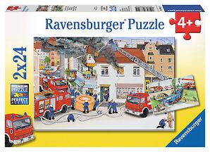 Puzzle 2 x 24 Teile - Bei der Feuerwehr von Ravensburger &OVP