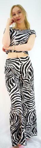 PENCIL SKIRT PLUS size 8-14 NEW WOMENS LADIES ZEBRA PRINT MIDI DRESS CROP TOP