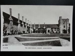 Hampshire-The-Brethren-039-s-Houses-Winchester-Old-RP-Postcard-Pub-By-Kingsway