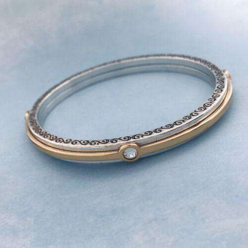 💜Brighton VERANDA Two Tone Crystal Bangle Bracele