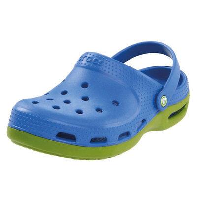 Crocs Kids Duet Plus Kids Blue/Parrot Green Slip On Crocs