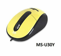 Usb Righttrack™ Adjustable 3-level Resolution Optical Mouse, Yellow 177689