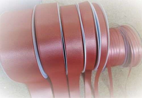 9792 D//Faced Satin Ribbon Berisfords ROSE GOLD 3mm to 70mm ODDMENTS ONLY