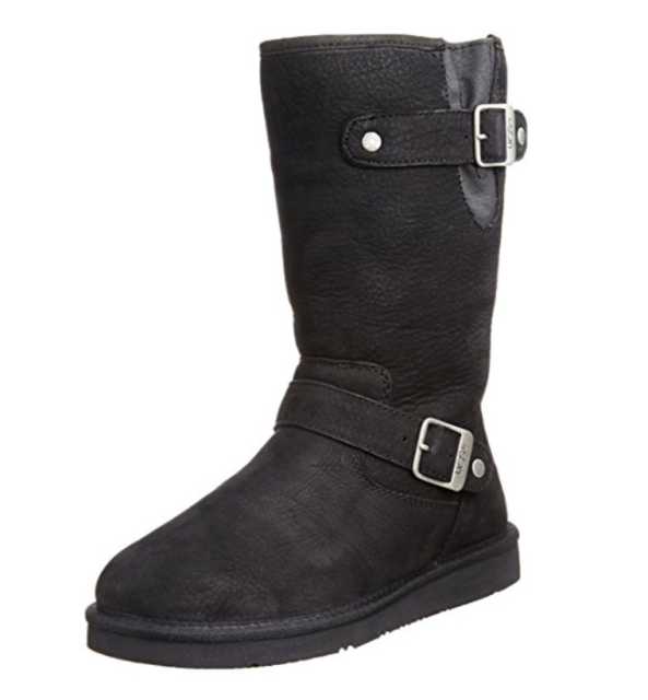 c280d2d58d0 Women UGG Australia Sutter Boot 1005374 Black Leather 100%Authentic Brand  New