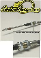 Control Cable Push-pull Throttle Cable 120 Inches Long For Bulk Head Mount