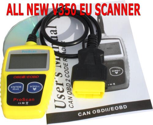 Proscan V350 Car Engine Fault Scanner Reader for Vauxhall Fiat Mercedes Toyota