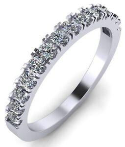 Image Is Loading 18k White Gold Lab Diamond Wedding Band Ring