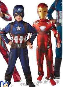 Kids-Captain-America-AND-Iron-Man-Costume-CIVIL-WAR-Boys-Superhero-Fancy-Dress