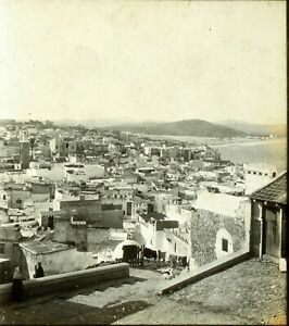 MAGHREB-MAROC-Tanger-ca-1910-Photo-Stereo-Vintage-Plaque-Verre-VR3L2