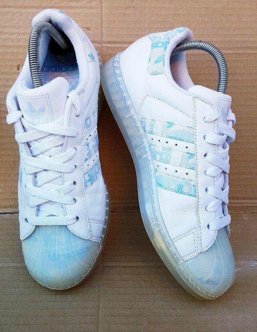 Adidas Superstar CLR W Baskets bleu et blanc Coffret taille 6 UK RARE
