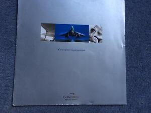 British Airways Concorde French Publicity Brochure 2001 Rare