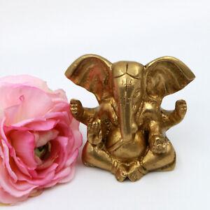 Ganesh-Statue-Figur-Messing-Meditation-8-cm-580g-Indien-Ganesha-Ganpati-Om-SO
