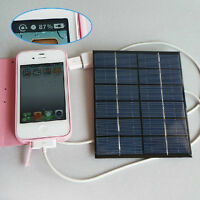 6v 2w 0.33A solar panel USB Solar Battery Charger for phone MP3 MP4 PDA Tablet
