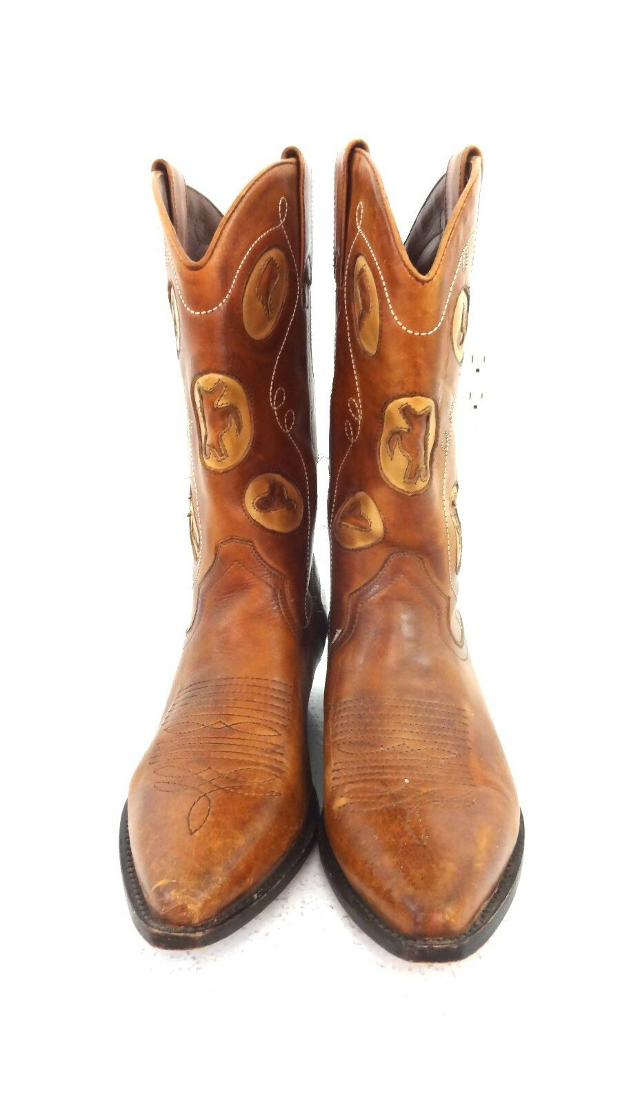 Giorgio Brutini Raro pelle Stivali da Cowboy Far West Taglia 9 M | benevento  | Scolaro/Ragazze Scarpa