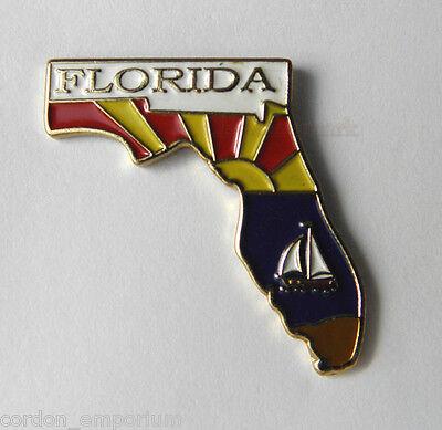 FLORIDA US STATE MAP LAPEL PIN BADGE 1 INCH