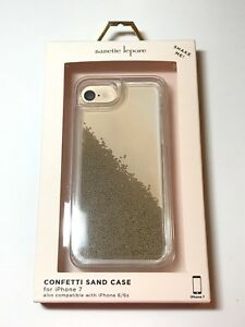 newest collection 48547 b6db1 Details about NEW Nanette Lepore Confetti Sand Case Clear & Gold Sand  iPhone 8/7/7s NIB Cute!