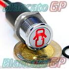 SPIA LED 14mm CON SIMBOLO PORTIERE APERTE metallo 12V lamp indicator light ROSSO