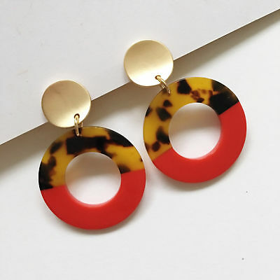 Hoop Drop Clip On Acrylic Earrings