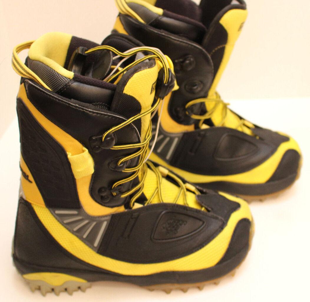 Mannens SALOMON SYNAPSE Aangepaste 3D Grootte 8.5 Zwarte &Geel Snowboard laarzen