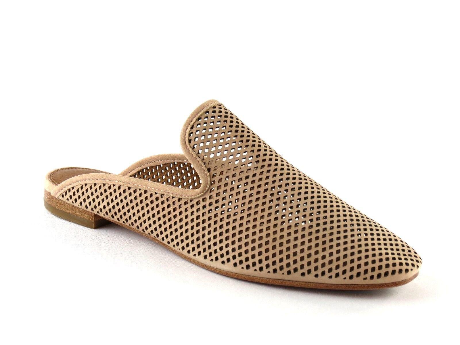 Frye Laser Cut Gwen Perforated Blush Nubuck Leder Slide Sandale 7.5 NEW Größe 7.5 Sandale be9921