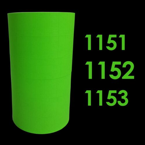 Monarch Paxar 1151 1152 1153 Green labels 1 sleeve = 6 rolls 1175 1176 1177