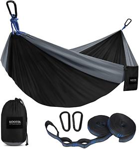 Kootek Camping Hammock Double  Single Portable Hammocks With 2 Tree Straps, Lig