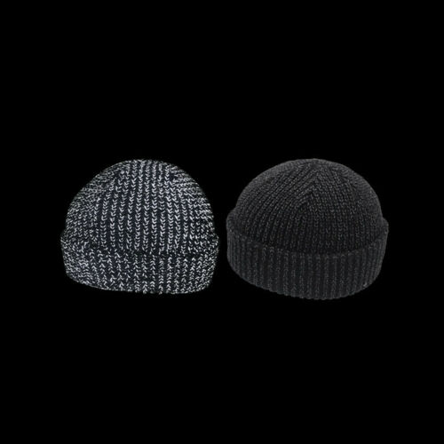 Outdoors Reflective Beanie Hat Thick Warm Cap Windproof Hats Woolly Knitted m6