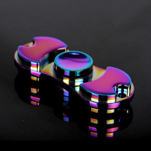 Rainbow Alumium Bangers main spiner doigt Gyro POCHE TOYS EDC anti stress jouets