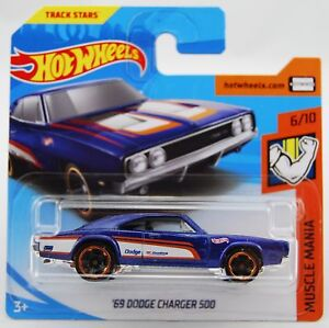 Hot Wheels 2018 69 Dodge Charger 500 215 365 Short Card Muscle