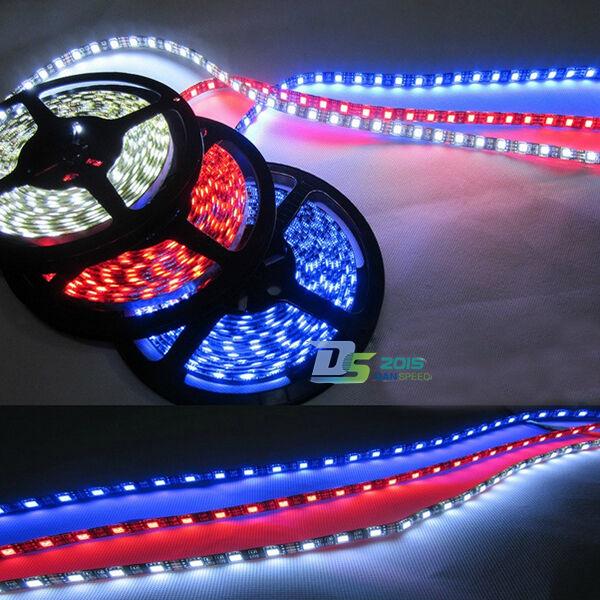 5m 500cm 5050 3Color 300 LED SMD Flexible Light Strip Lamp Car Light DC 12V Best
