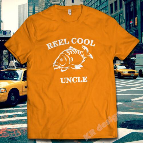 REEL COOL UNCLE fishing T-shirt Birthday Christmas Carp T shirt XMAS Gift