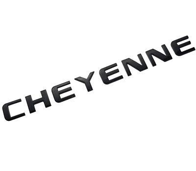 1x OEM Black CHEYENNE Nameplate Emblem Badge Letter GM Chevrolet Silverado WU