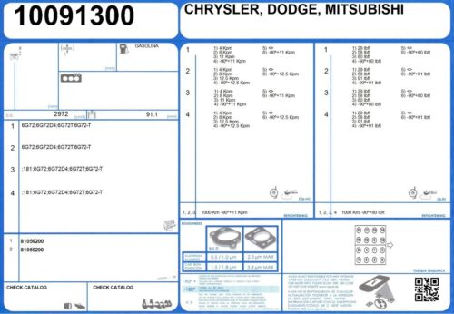 Full Engine Gasket Set Mitsubishi 3000 GT TURBO V6 24 V 3.0 285 6G72D4 91//00