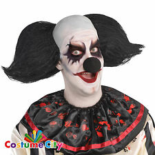 Adults Black Freak Show Circus Clown Wig Halloween Horror Fancy Dress Accessory