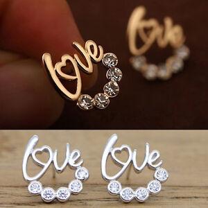 New-Fashion-Women-039-s-Jewelry-Elegant-Crystal-Rhinestone-Love-Dangle-Drop-Earrings