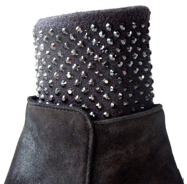 New    1900 Giuseppe ZANOTTI black CRYSTALS ANKLE BOOTS shoes - SO AMAZING 88f7da