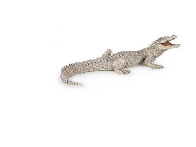 papo white baby crocodile wild gator swamp animal pretend play 50141