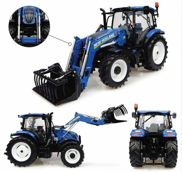 New Holland t6.145 with 740 tl Loader tractor 1 32 MODEL 4956 universal hobbies
