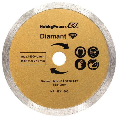 3x Mini Scie Lame de Disque à Tronçonner Diamant 85x10 MM Pour Lux MTKS-600 A