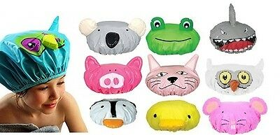 Annabel Trends Animal Shower Caps Kids Bath Hair Cover Waterproof