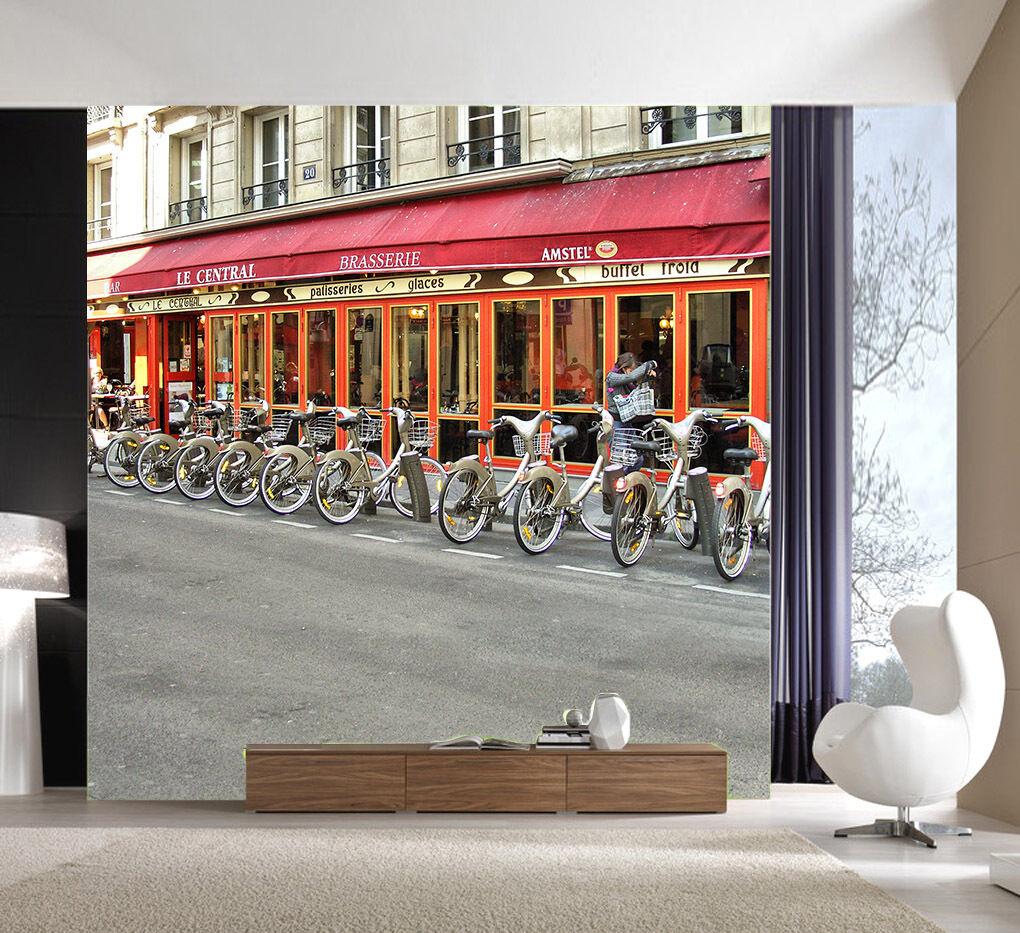3D House Bikes 713 Wallpaper Mural Paper Wall Print Wallpaper Murals UK Lemon