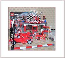 Lego Racers Set 8672 Ferrari Finish Line inkl. 10 Fig. Massa Schuhmacher u. BA
