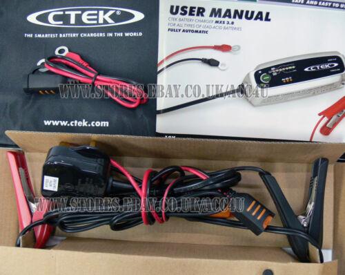 CTEK MXS 3.8 12v 3.8A Car Van Bike Boat 7 Stage Automatic Smart Battery Charger