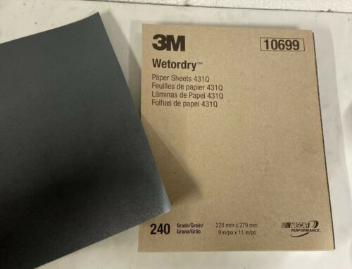 3M  Wetordry Sanding Sheets 431Q Pack of 50 Sheets 240 Grit New 10699