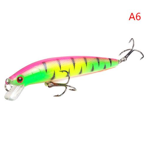 Minnow Fishing Lure 3D Eyes 10cm 7g Wobbler Bass Pike Baits Spinner Baits M/&R