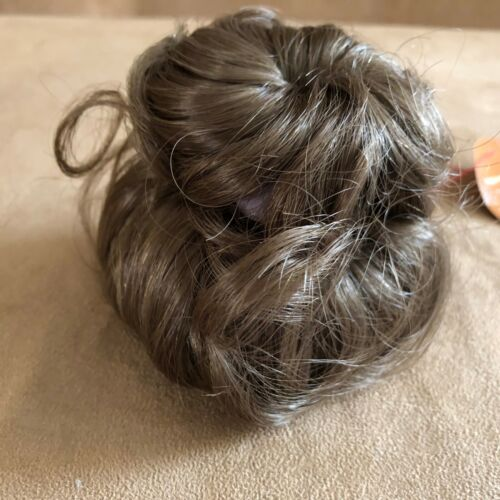 8-9 Lydia Monique Light Brown wig pony bun hair Doll making parts 233 nwob